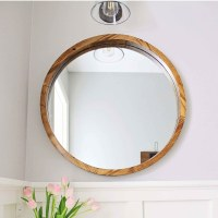 Round Wood Mirror DIY - Angela Marie Made