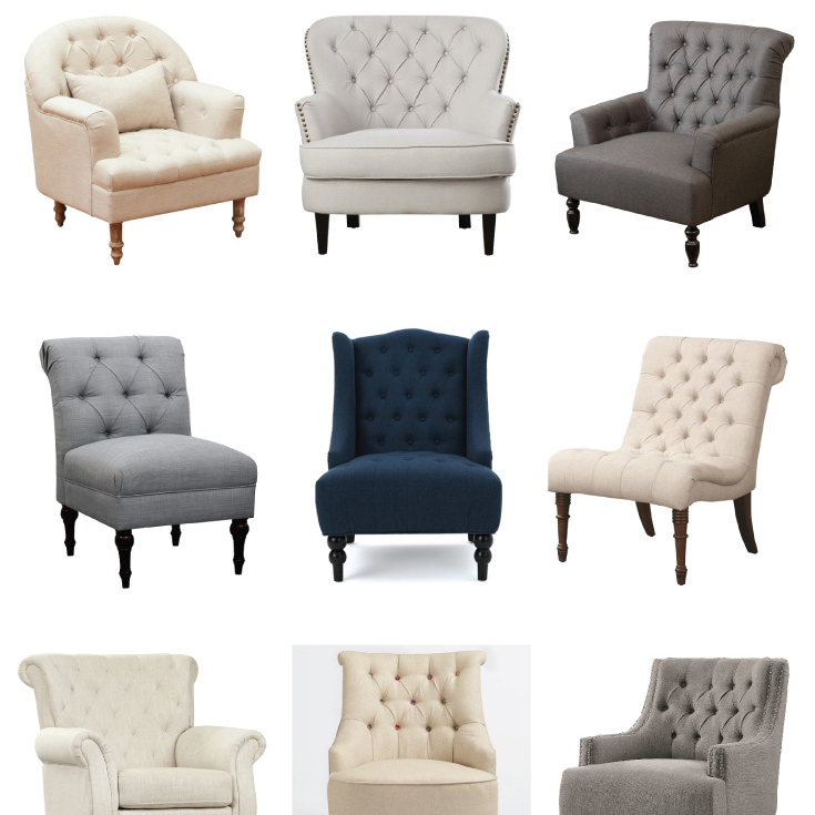 tufted accent chairs back support chair office budget friendly angela marie made