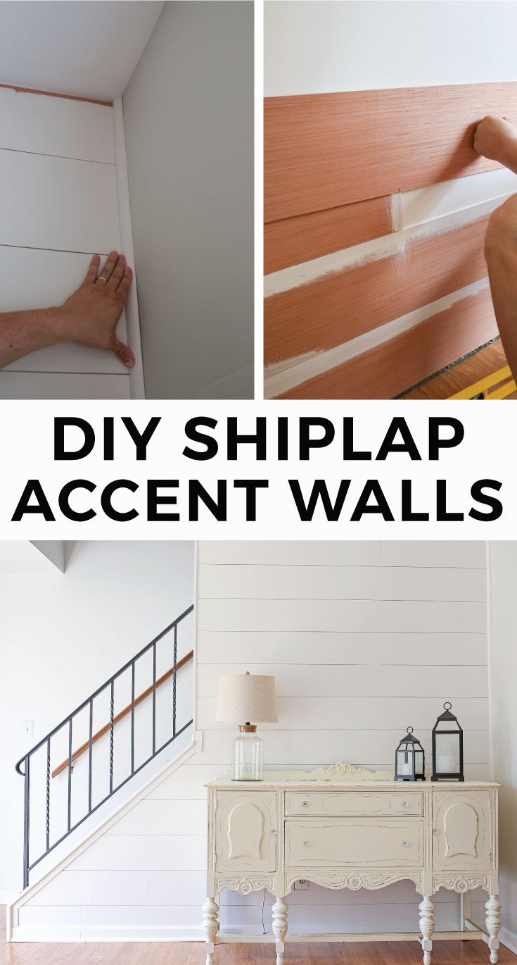 Diy Shiplap Accent Walls Angela Marie Made