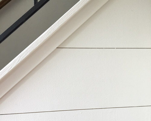 Shiplap Staircase Accent Wall
