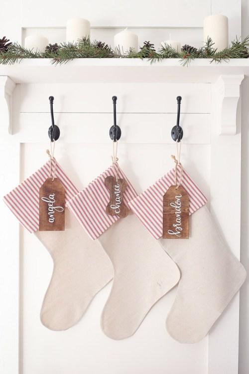 No Sew DIY Christmas Stockings
