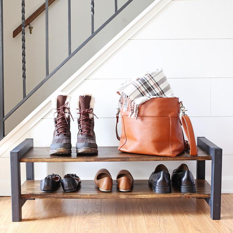 Entryway DIY Shoe Rack  Angela Marie Made