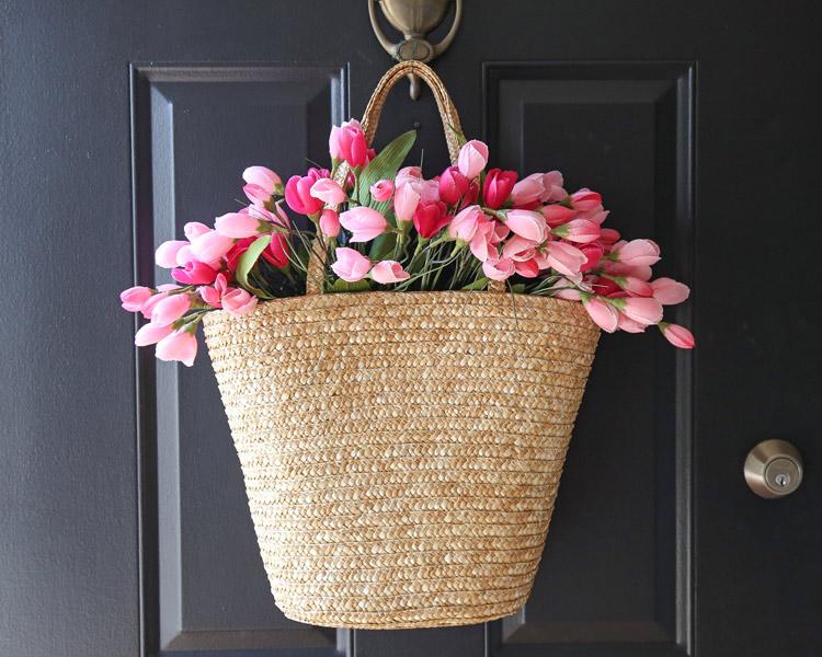 tulip wreath DIY