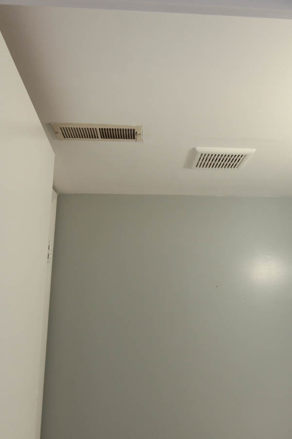 Bathroom Ceiling Photo before diy shiplap ceiling