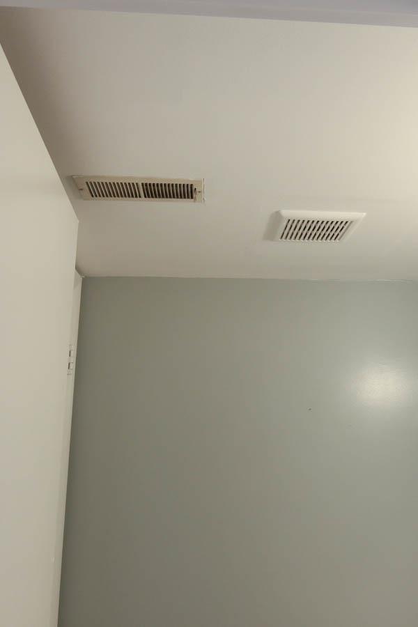 Bathroom Ceiling Photo before diy shiplap ceiling