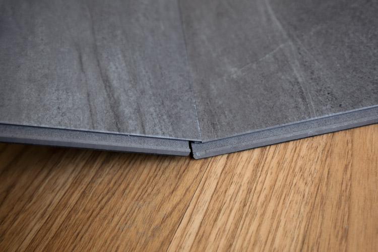 floating vinyl tile tounge and groove interlocking
