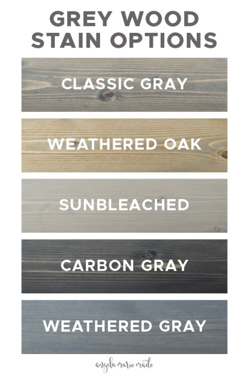 5 grey wood stain options on pine wood