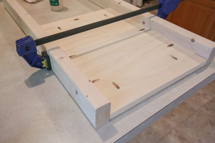 attaching wood vanity legs to diy bathroom vanity sides