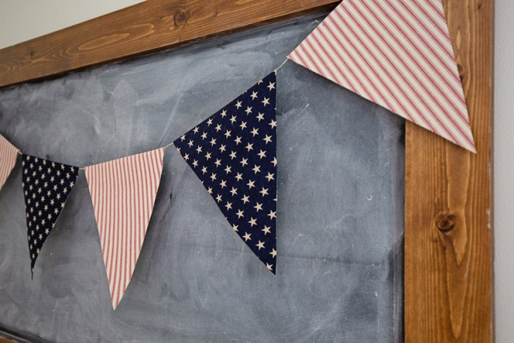 4th of July Banner close up