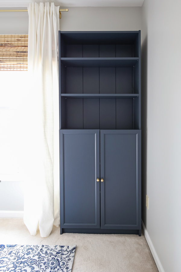Billy bookcase hack with doors