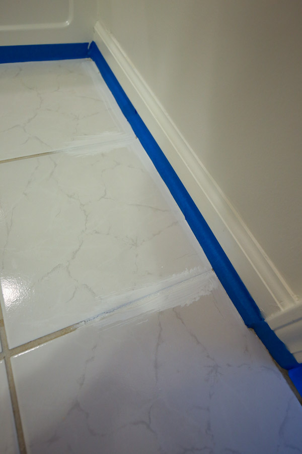 Surprising How To Paint Tile Floor In A Bathroom Angela Marie Made Home Interior And Landscaping Synyenasavecom