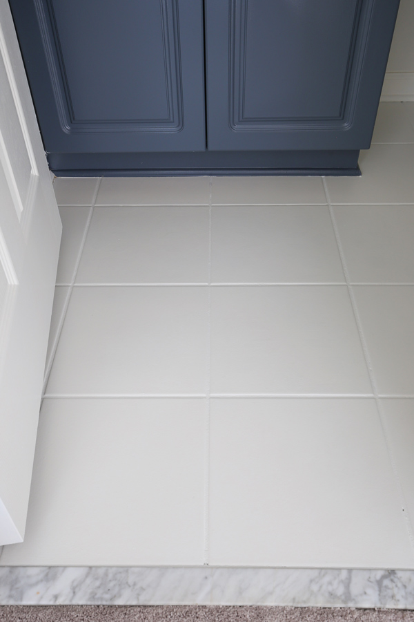 How To Paint Tile Floor In A Bathroom Angela Marie Made
