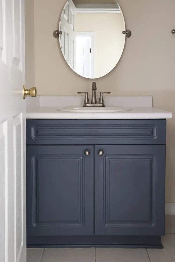 How To Paint A Bathroom Vanity Angela Marie Made