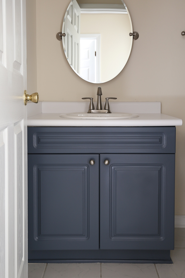 How to Paint a Bathroom Vanity & How to Paint a Bathroom Vanity - Angela Marie Made