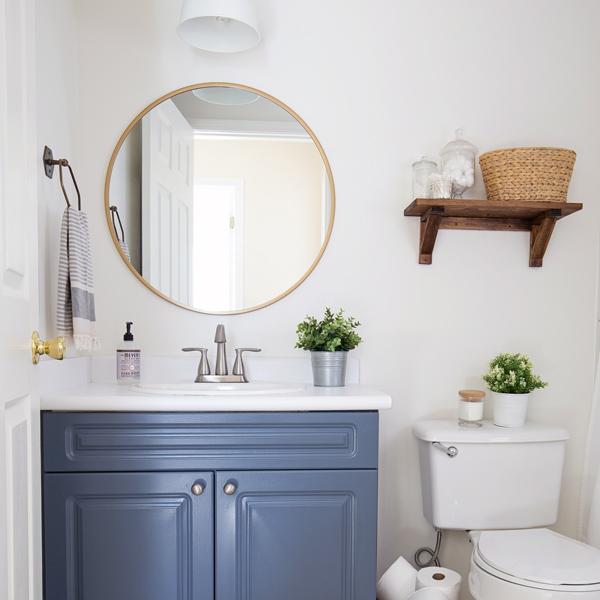 Inexpensive Bathroom Makeover: $100 Budget Bathroom Makeover Reveal
