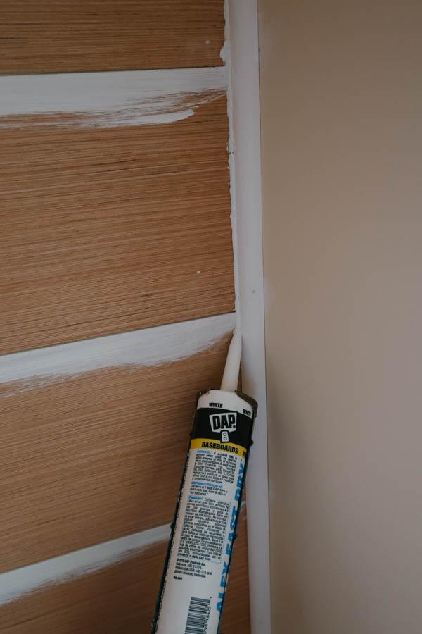 Caulking inside wall edge corner