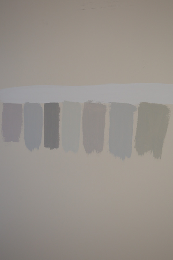 Test paint samples on wall when picking paint colors