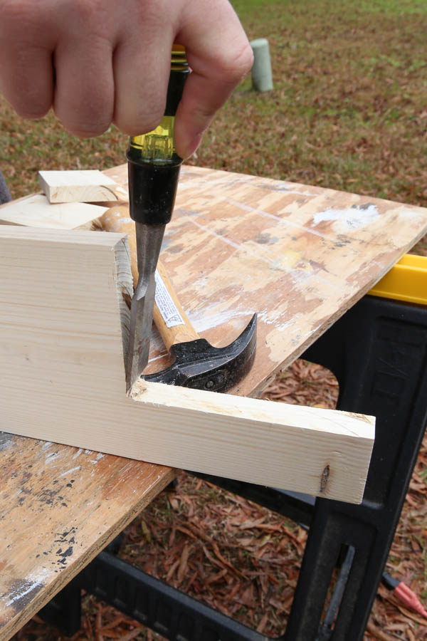 chiseling window sill edges