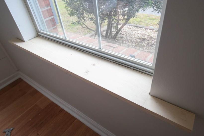installing new window sill