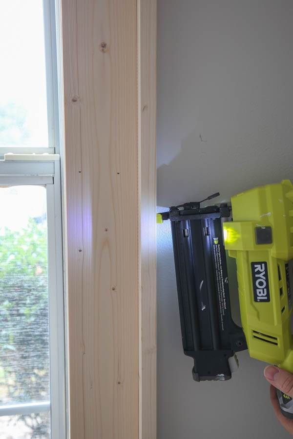 use a brad nailer for side 1x2 window trim installation