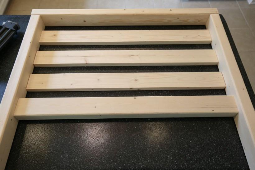 Add side slat boards to side frames
