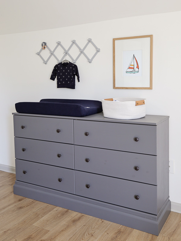 nursery dresser and nursery changing station