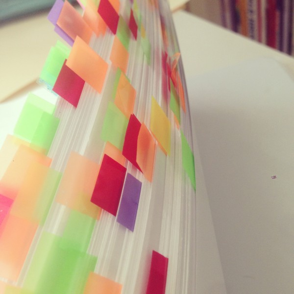 My manuscript after a read-through. That's a lot of typos and story notes!