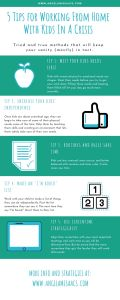 5 Tips for Working from Home with Kids infographic summary