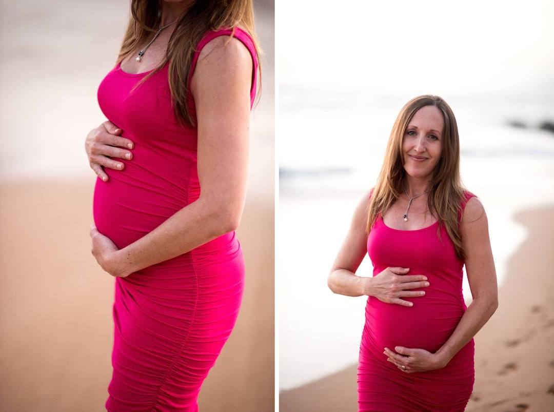 2nd trimester maternity photos, woman cupping her beautiful pregnant belly