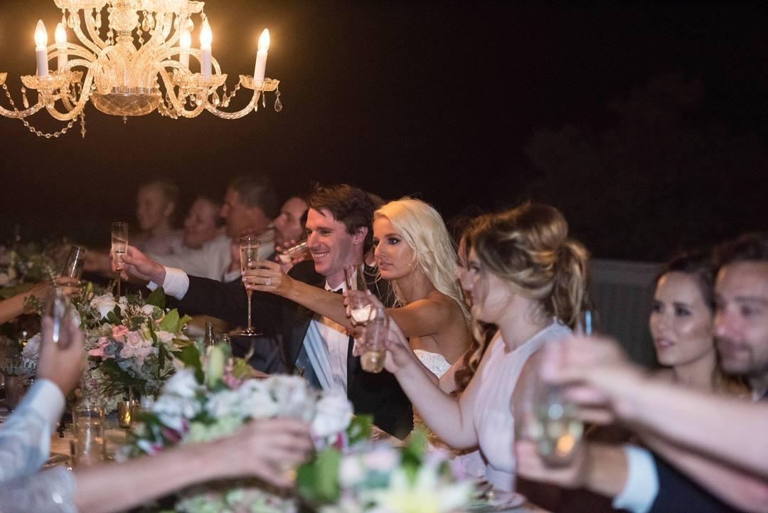 wedding toast! Champagne toast at wedding reception