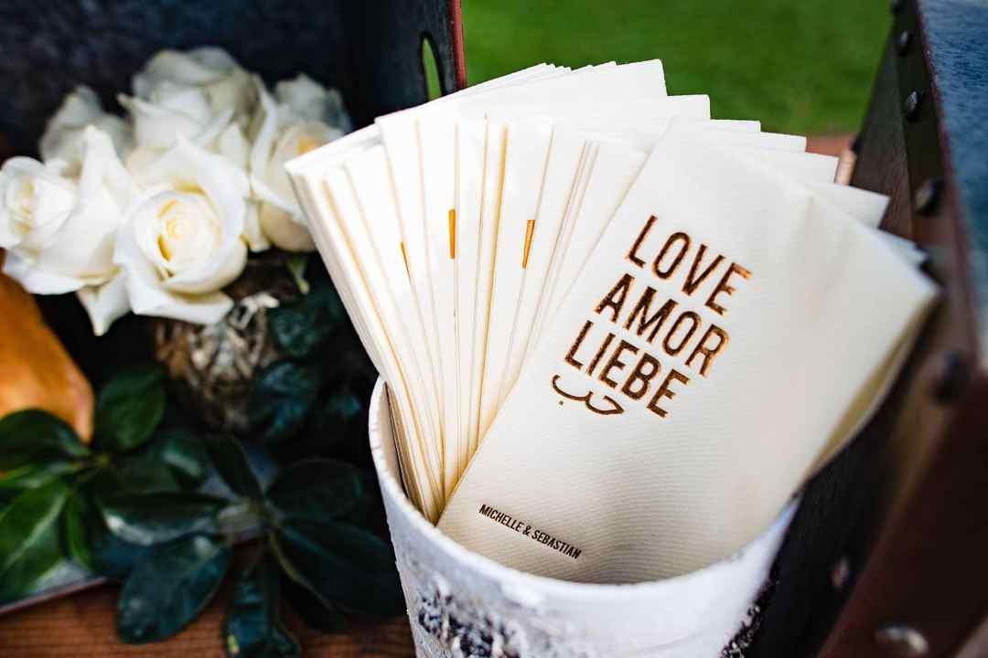 love, amor, liebe customized napkins