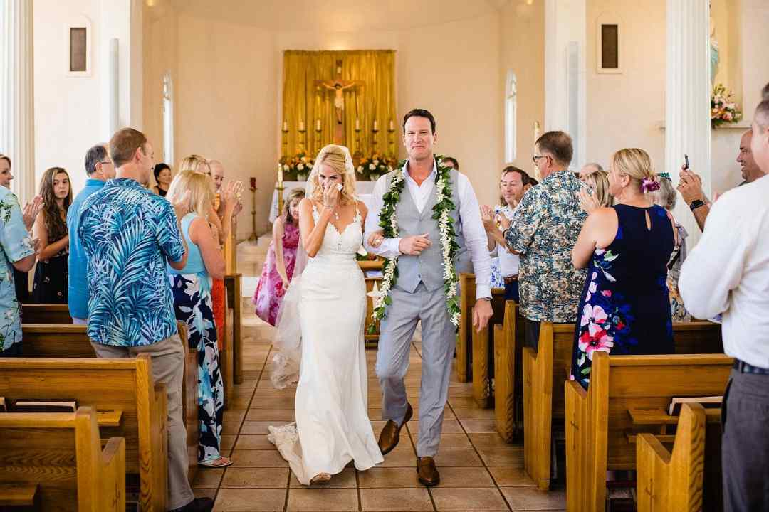 emotional wedding at maria lanikila church