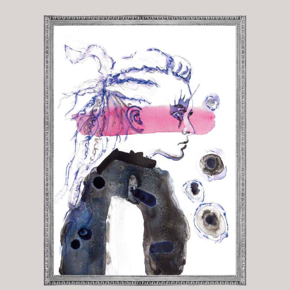 Pink Woman, Natuurlijk Angelart, Angela Peters. Illustraties inkt