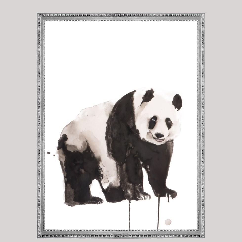 Panda animal dieren print, Natuurlijk Angelart, Angela Peters. Illustratie Ink aquarel