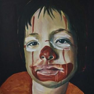 Portretten, portret schilderijen Angela Peters Clown