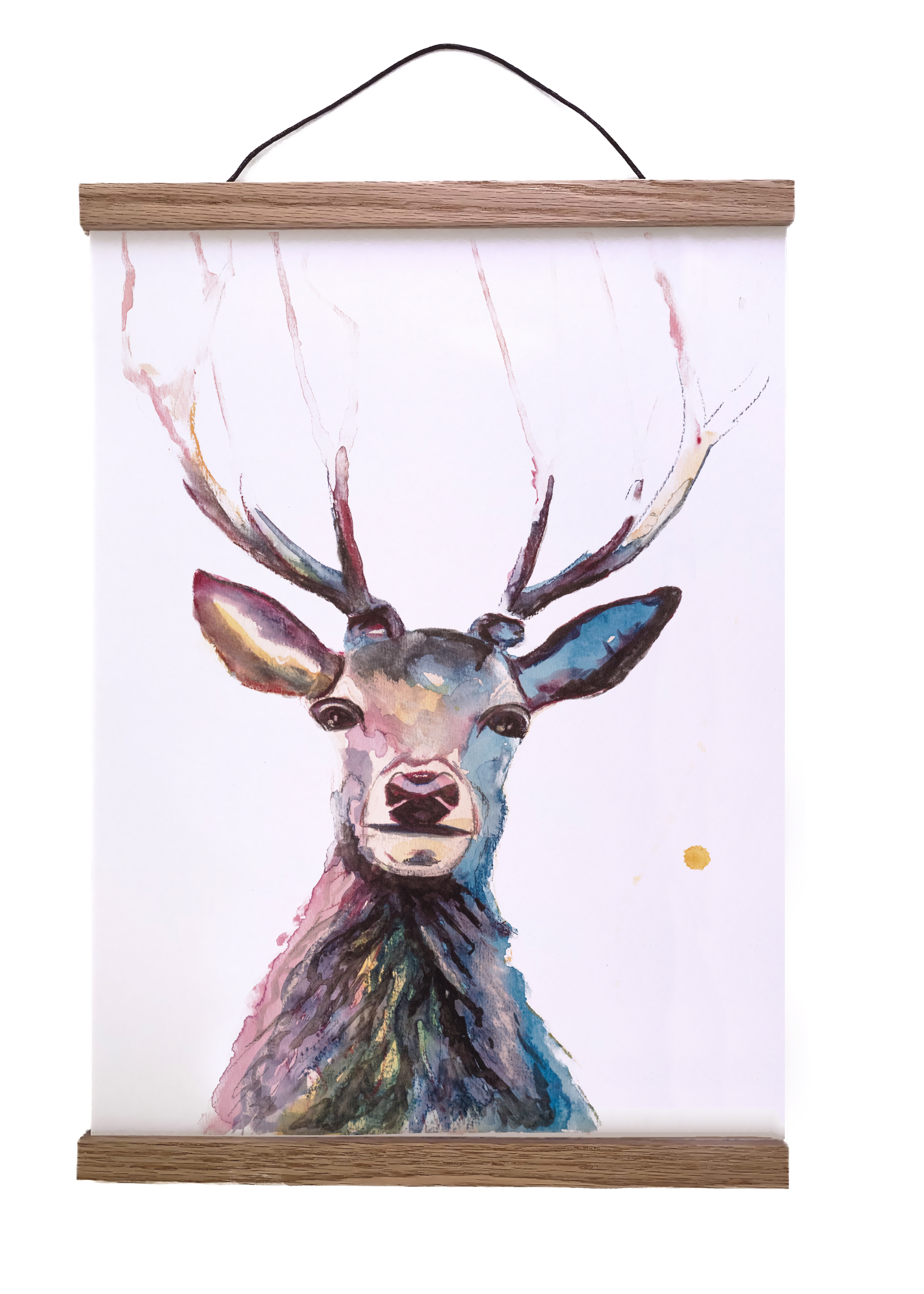 Hertje Artprint - Bosdieren Kunstprint - Dieren Kunst - Kunst aan de muur - Herten poster natuurlijk angelart, Angela Peters