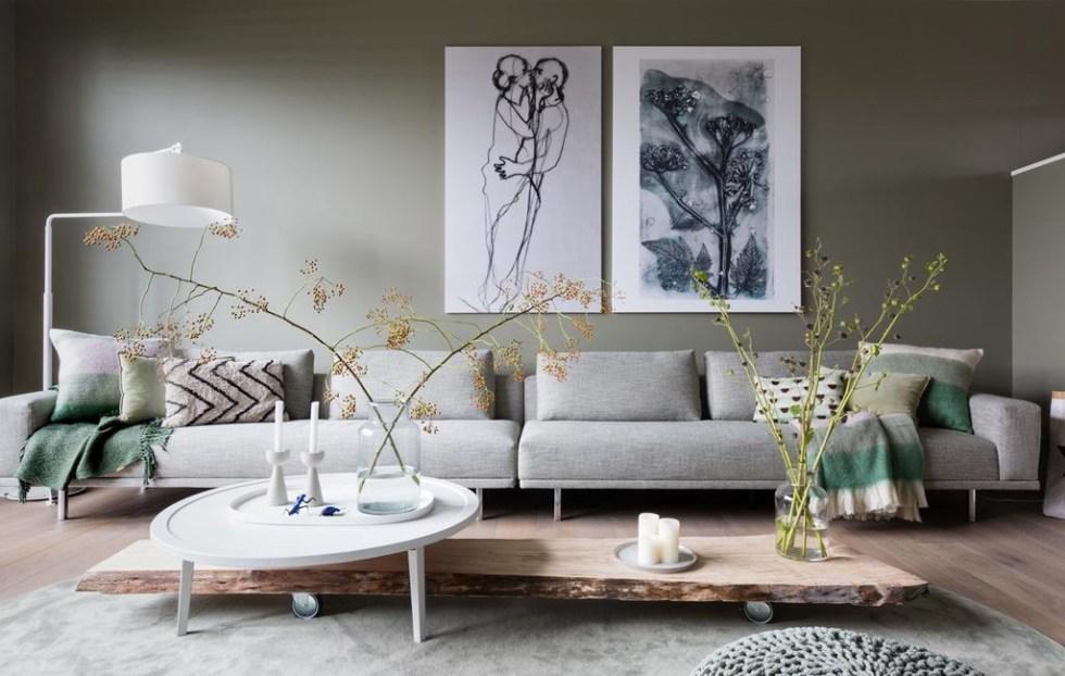 Botanisch print in VT Wonen
