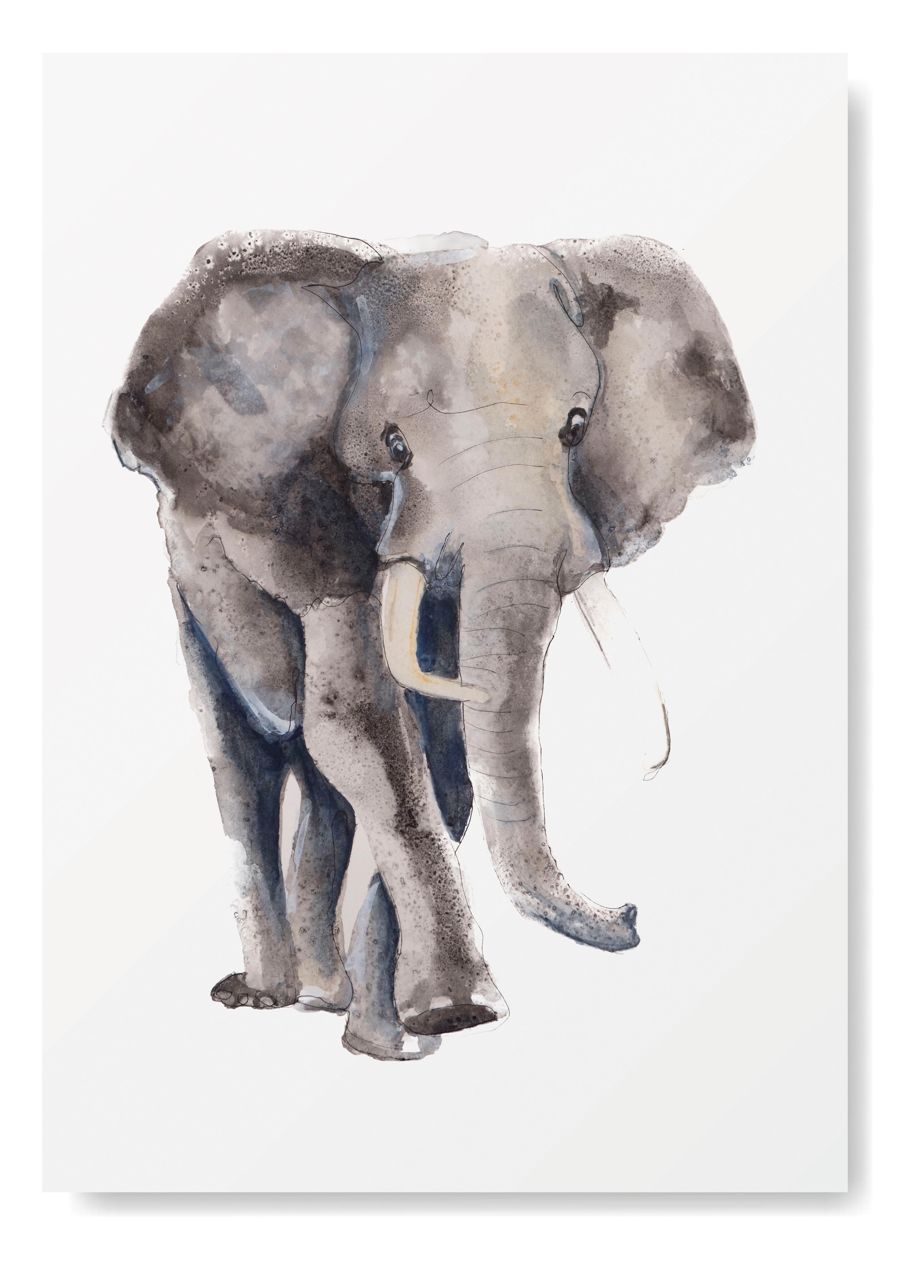 Olifant Kunstprint - Afrikaanse Dieren Kunst- Kunst aan de muur - Olifanten Poster - Dieren Art Print Angelart Kunst&Zo, Angela Peters