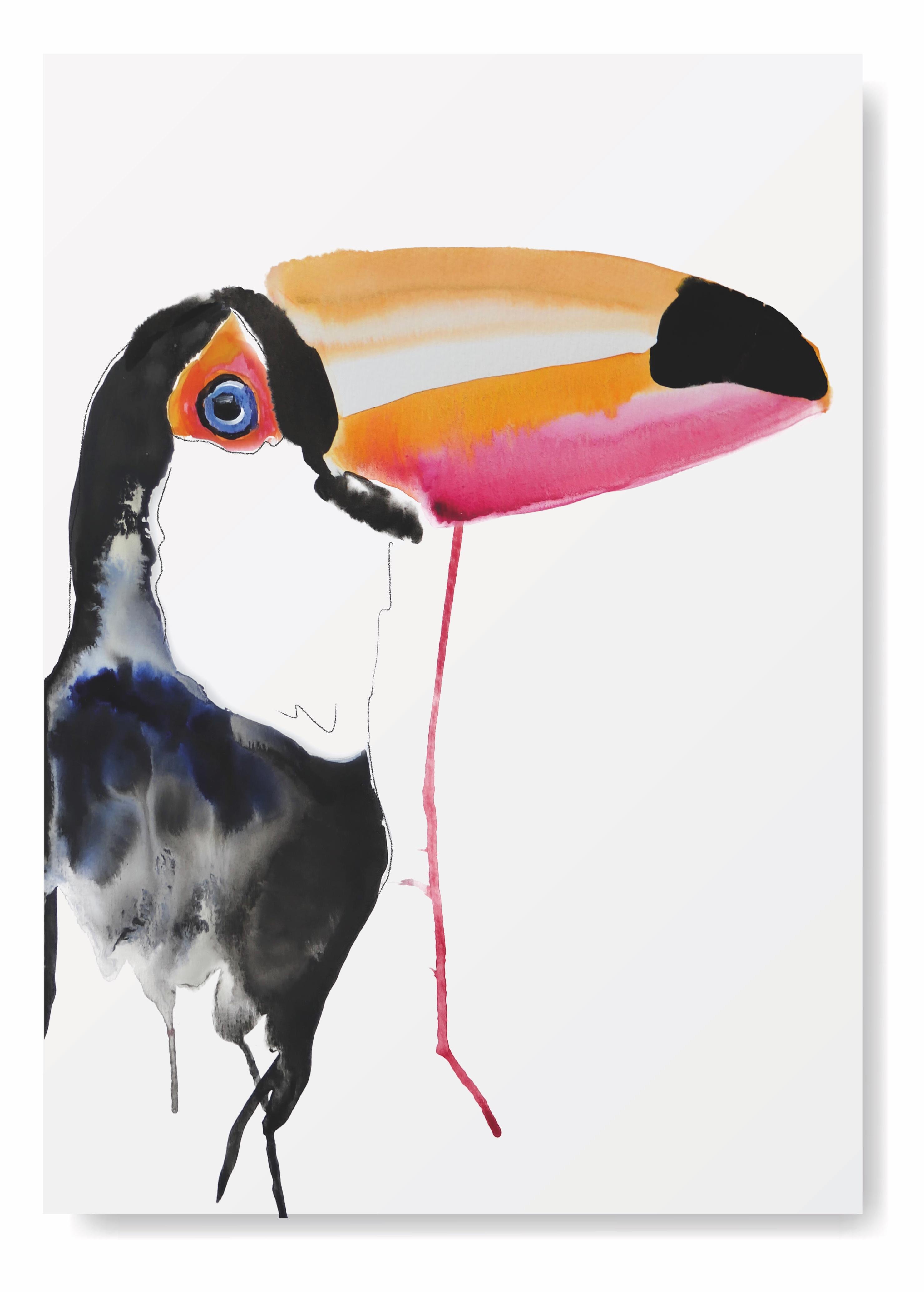 Angela Peters illustratie, dieren, tropische vogel kaarten Angelart