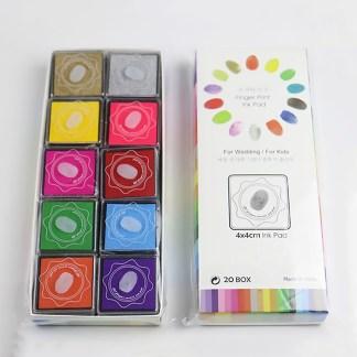 Stempelkussen set - met 20 verschillende kleuren - Stempelinkt - Doe-het-zelf stempelkussen - Stempel pad - Inktkussen - Natuurlijk Angelart