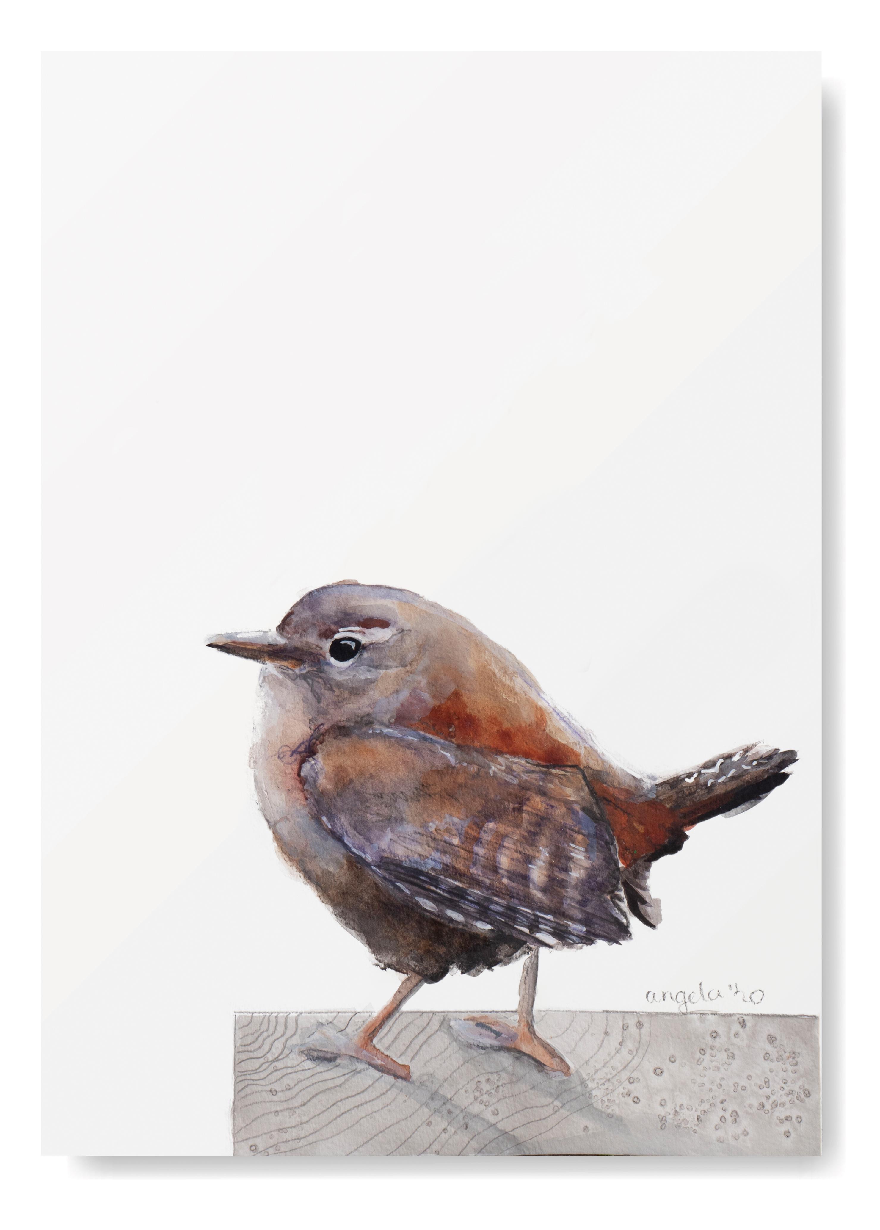 winterkoninkje Kunstprint - Vogel Kunst- Kunst aan de muur - Vogel Poster - Vogel Art Print angelart kunst&Zo Angela Peters