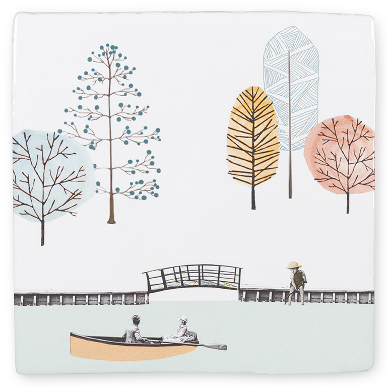 A DAY AT THE PARK Story tiles te koop bij Angelart Kunst en zo, galerie Hattem