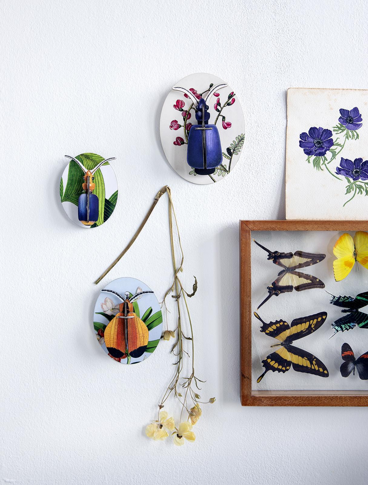 Studio roof bij Angelart kunst en zo Hattem insecten wall art