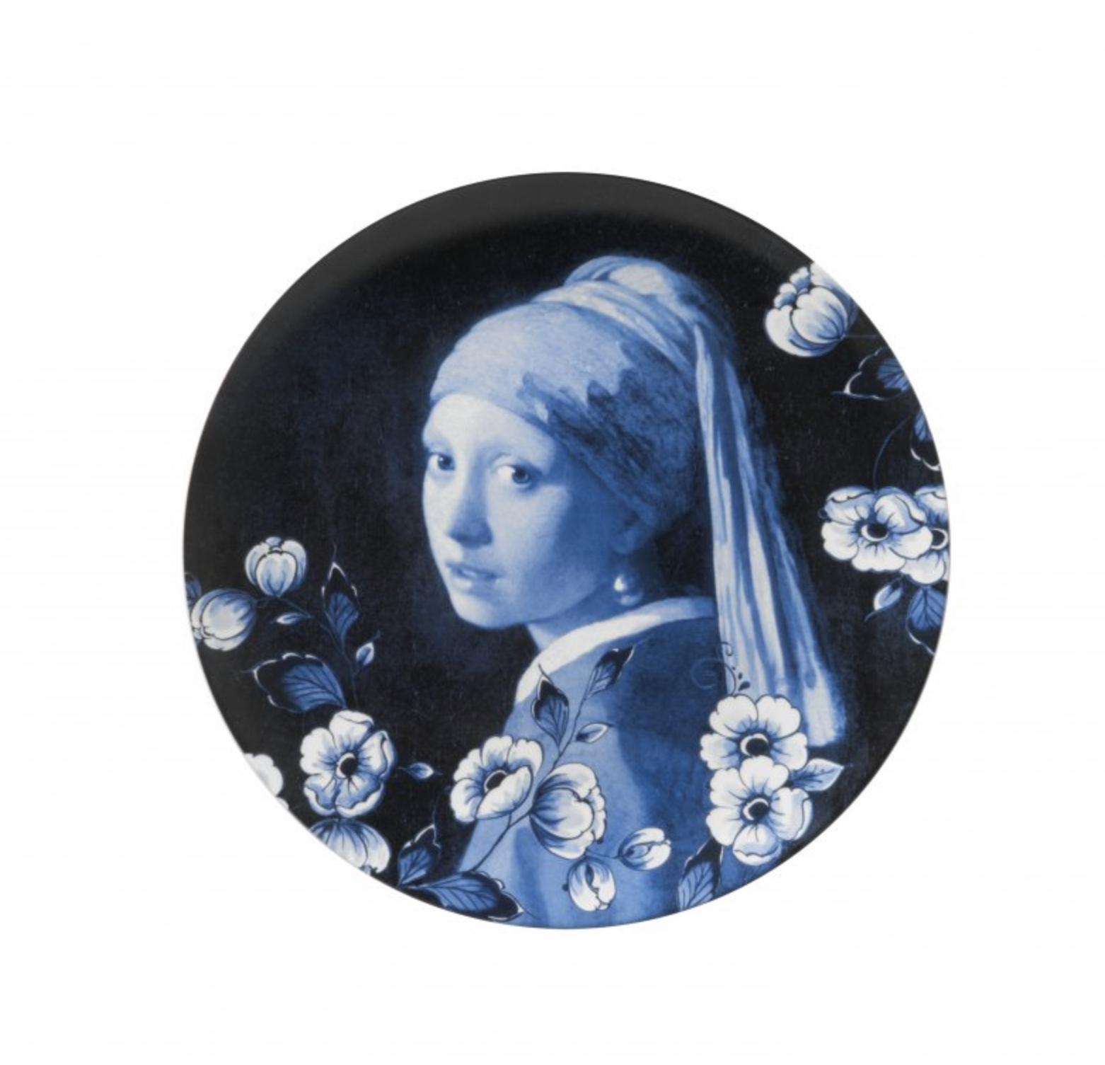 Heinen Delfts BlauwWandbord meisje met de parel bij Angelart Kunst en Zo Hattem