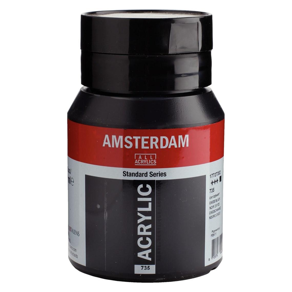 Amsterdam Acrylverf Oxydzwart 735