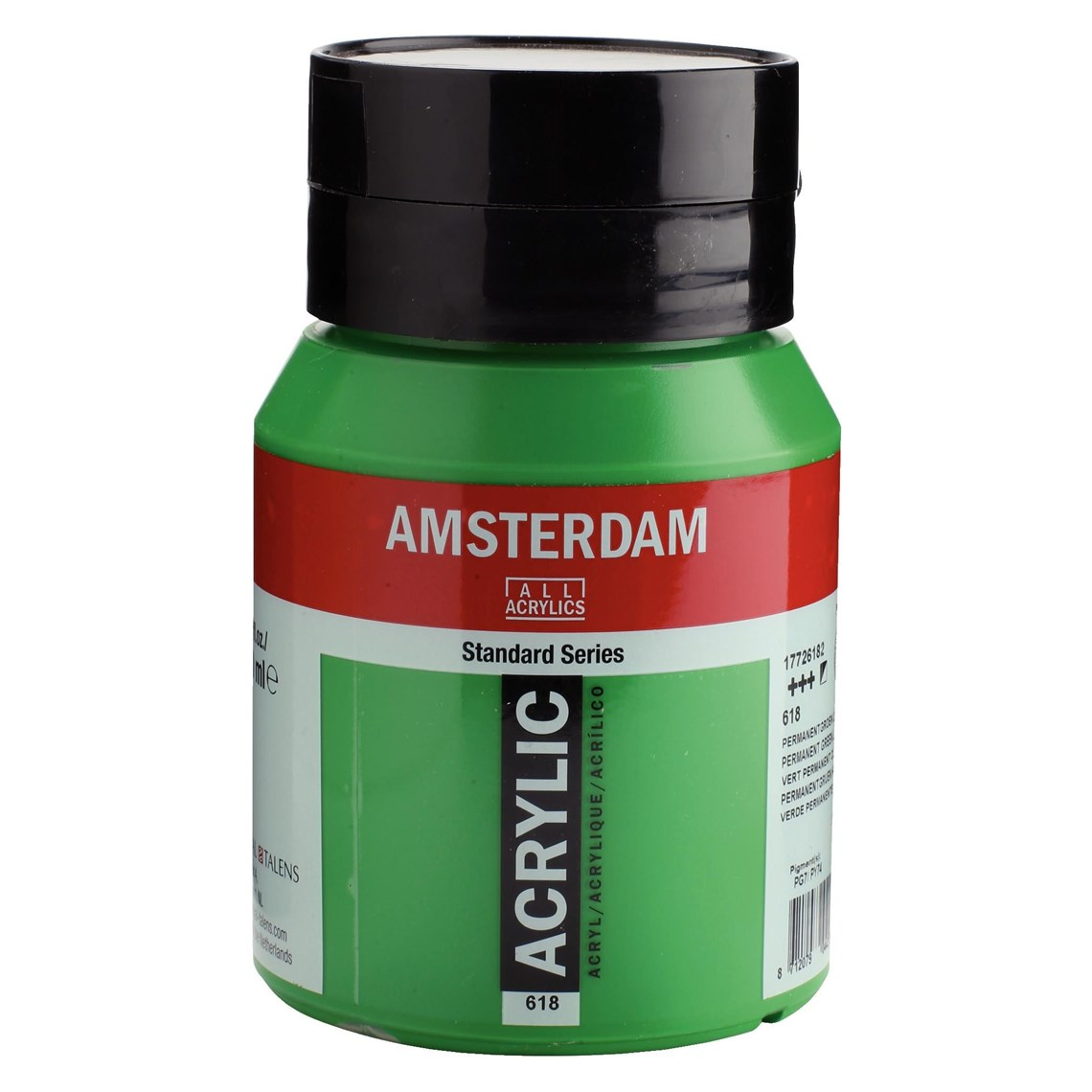 Amsterdam acrylverf Permanentgroen licht 618 Angelart Kunst en zo