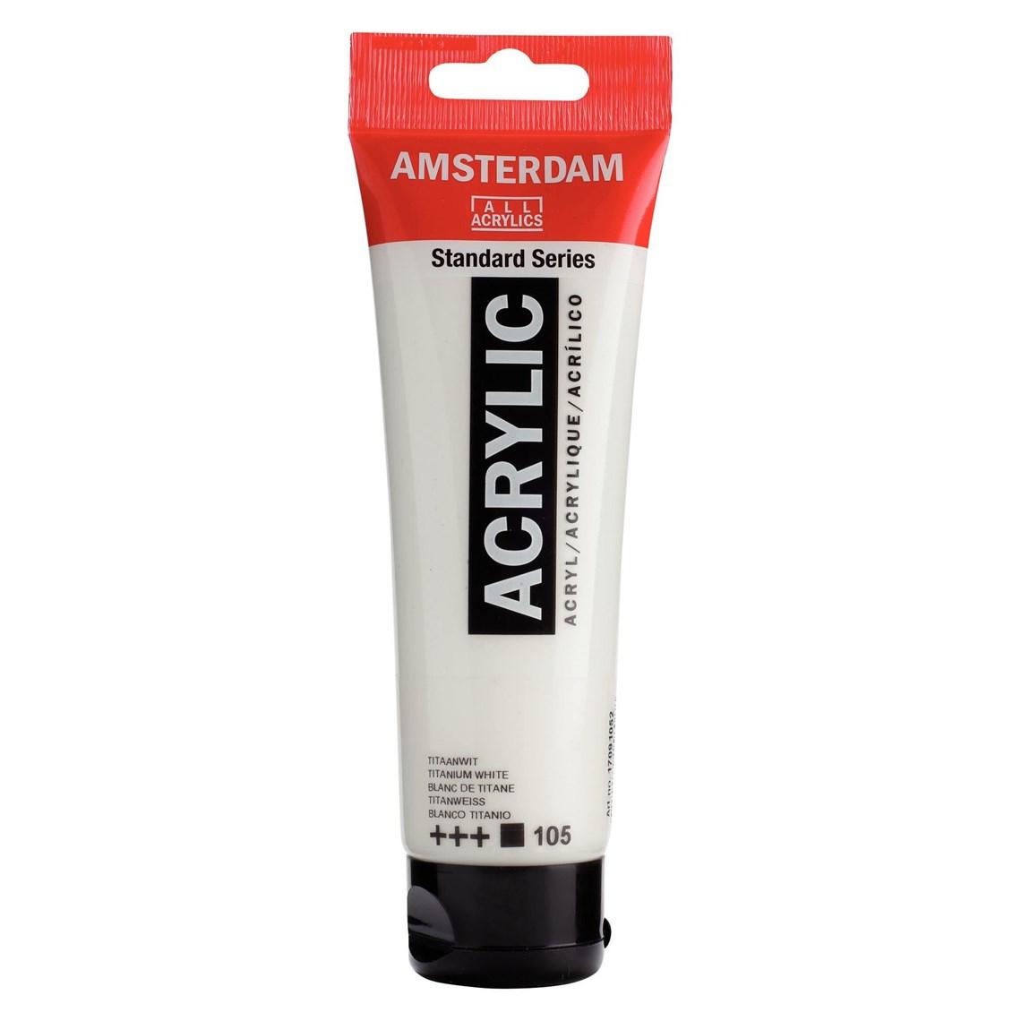 Amsterdam acrylverf Titaanwit 105 Standard Series