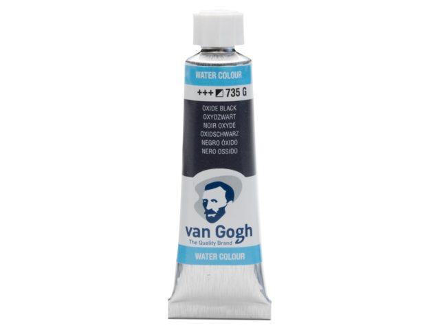 Aquarelverf Oxydzwart 735 tube 10 ml. Van Gogh