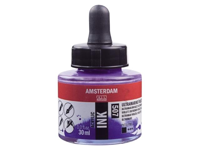 Acryl inkt Ultramarijn violet 507- Amsterdam acrylic