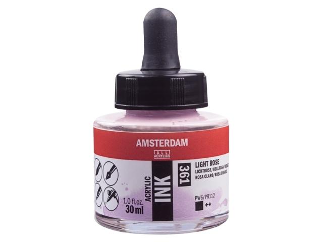 Acryl inkt Lichtrose 361 - Amsterdam acrylic